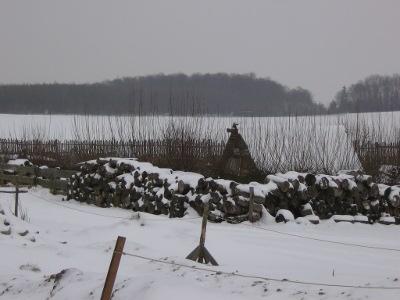 Köhlerhütte im Schnee