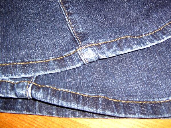Jeanssaum gekürzt