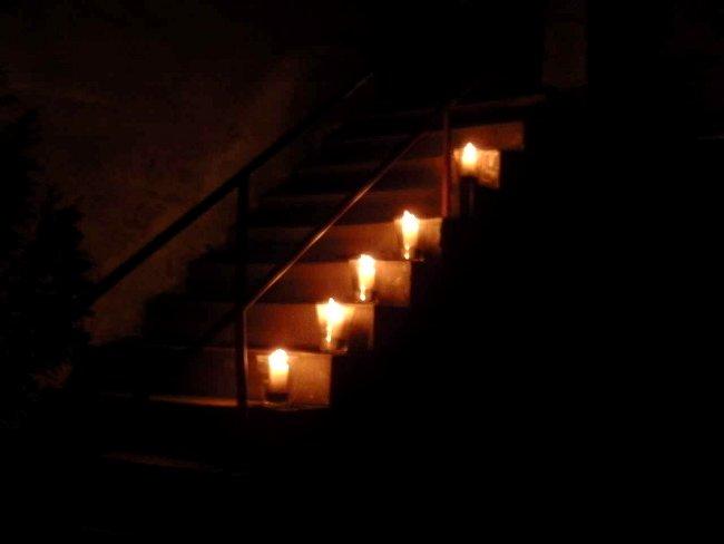 Treppe mit Kerzen